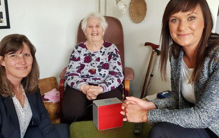 Møde med 86-årige Lillian, Helsingørs borgmester Benedikte Kiær og innovationsminister Sophie Løhde